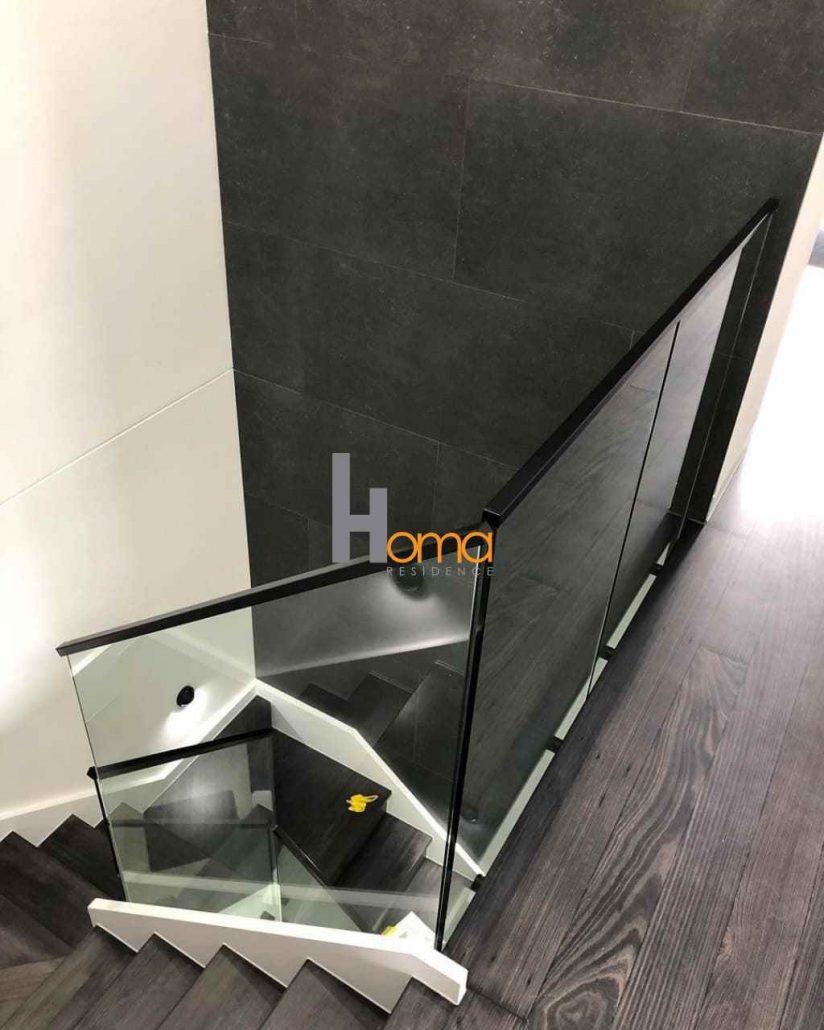 هندریل شیشه ای / قیمت پایه نرده شیشه / قیمت