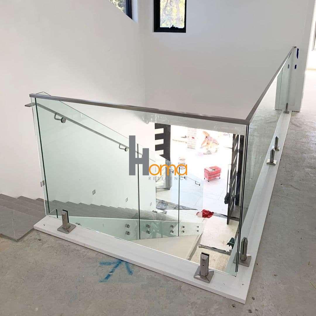 هندریل شیشه ای پایه نرده شیشه